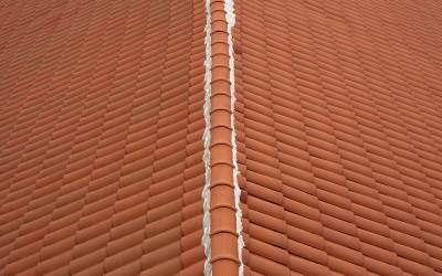 spanish roof from the tiles